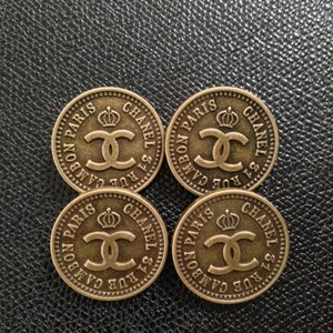Chanel ON SALE!! Chanel Rue Cambon Buttons, 4 Small. Bronze