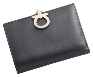 Salvatore Ferragamo Salvatore Ferragamo Gancini Genuine Leather Wallet