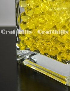 100g Yellow Water Bead Make 2.5 Gallons Water Jelly Crystal Gel Ball For Wedding Party Home Floral Eiffel Tower Vase Art