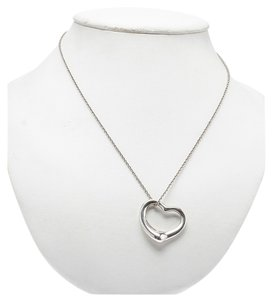 Tiffany & Co. Tiffany & Co Women's Sterling Silver (925) Elsa Peretti Heart Pendant Necklace