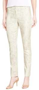 NIC+ZOE Ankle Color Print Straight Pants multi