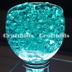 400g Teal / Turquoise Water Bead Make 9 Gallons Water Jelly Crystal Gel Ball For Wedding Party Home Floral Eiffel Tower