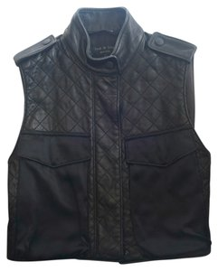 Rag & Bone Leather Quilted Vest