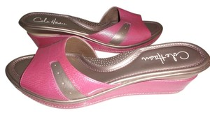 Cole Haan PINK / SILVER Sandals