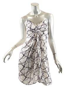ZIMMERMANN short dress Off White & Gray Strapless Ribbon Bow on Tradesy