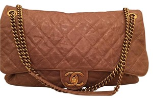 Chanel Flap Like New Large Flap Shoulder Bag