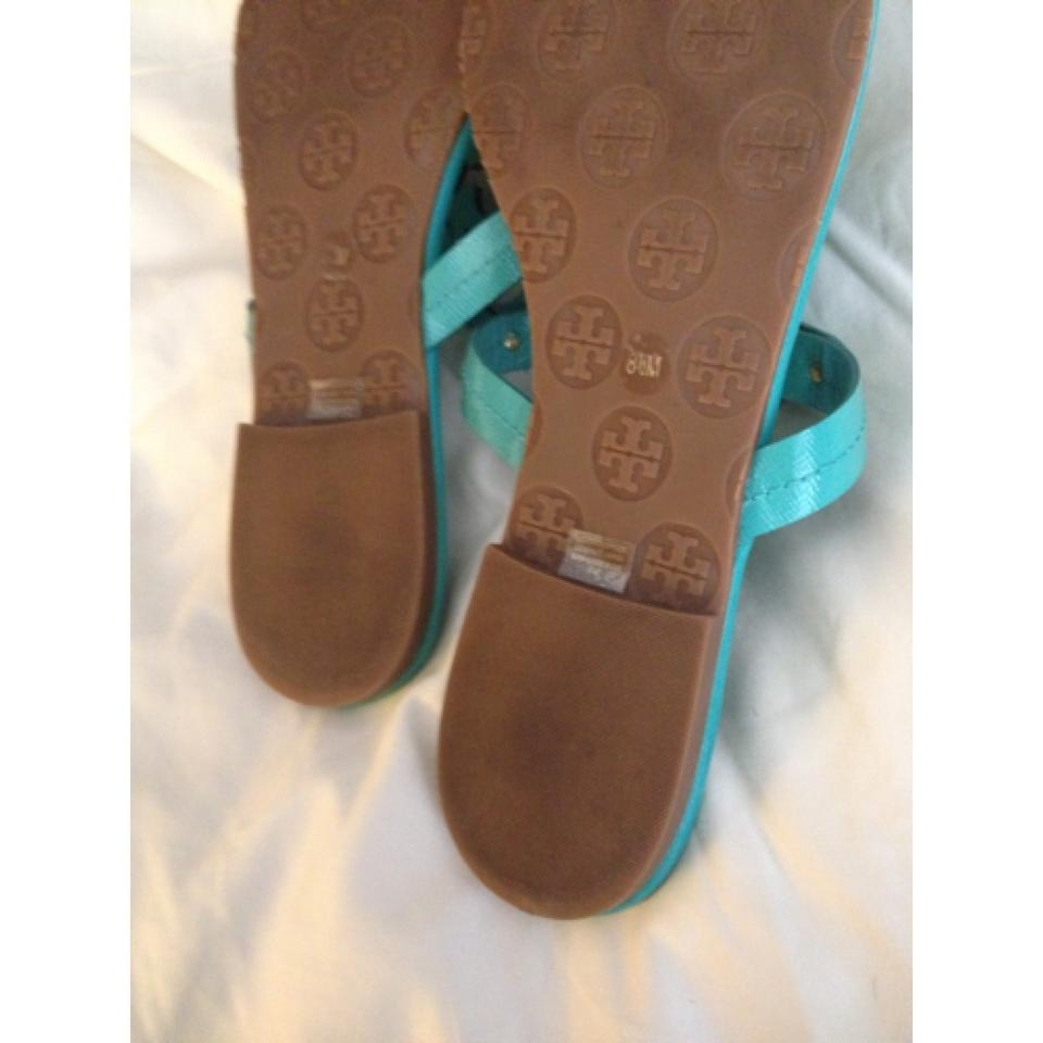 6c1c13605cd0 Tory Burch Turquoise Miller Sandals Size US 8.5 Regular (M