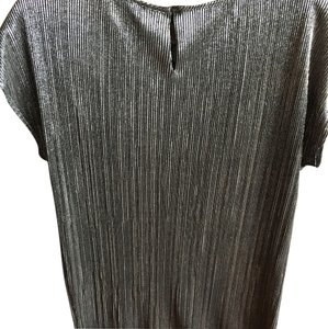 New York & Company Top Silver/black