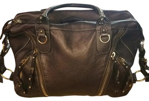 Cromia Satchel in Dark Metallic Bronze