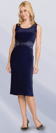 Pewter Crepe 1953 (Ll-1s) Formal Bridesmaid/Mob Dress Size 12 (L)