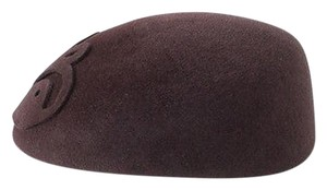 Other Sherels York Brown Velour Felt Butterfly Applique Driving Hat