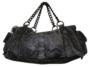 Thomas Wylde Wylde Leather Large Duffle Travel Gunmetal Hardware Hobo Bag