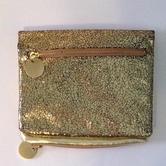 deux lux Cosmetic Gold Clutch