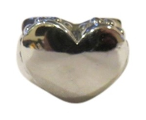 Lagos Sterling Silver 3-D Puffed Caviar Heart Ring, Size 6