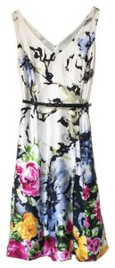 Adrianna Papell Silk Floral Wedding Dress