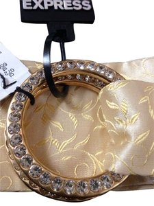 Express Express 100% Silk Belt With Diamond Buckle Size Large