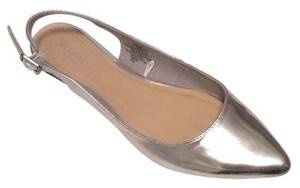 Old Navy Slingback Silver Patent Flats