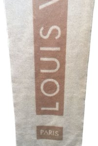 Louis Vuitton Louis Vuitton Scarf - Camel Cashmere Echarpe Baroda Logo (Paris)