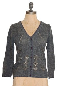 Easel Knit Beaded Fitted Cardigan