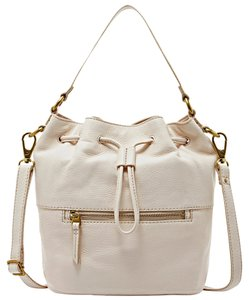 Fossil Drawstring Tote Hobo Leather Shoulder Bag