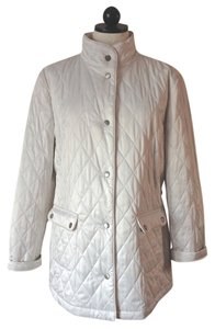Dana Buchman Quilted Leopard winter white Jacket