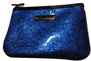 Betsey Johnson Sparkly Blue Small Cosmetic Case