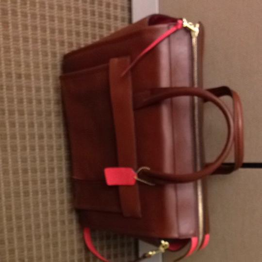 Coach Tote in Brown/camel/poppy