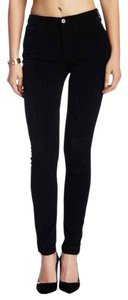 7 For All Mankind Corduroy Skinny Pants Black
