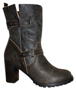 Coconuts by Matisse Alpine Shearling Mid-calf Height Size 7 Gray Leather Black Boots