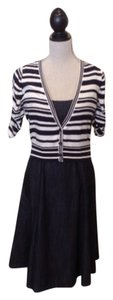 Liz Claiborne short dress Navy/Ivory on Tradesy