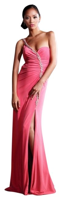 Nika New Auth. Evening 4040 Size 6m One Slit Strappy Back Dress