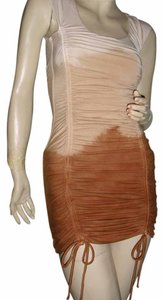 fashionista short dress ombre brown on Tradesy