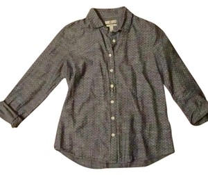 J.Crew Polka Dot Chambray Flannel Plaid Classic Button Down Shirt