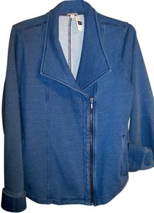 Gap Denim Look Cotton Soft Moto-style Indigo Pigment Jacket