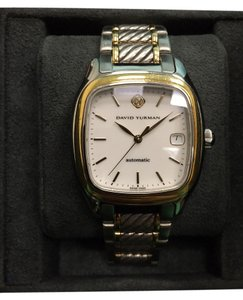 David Yurman David Yurman Thoroughbred Unisex Watch Stainless and 18k Yellow Gold w/ Sapphire Crown and Original Box