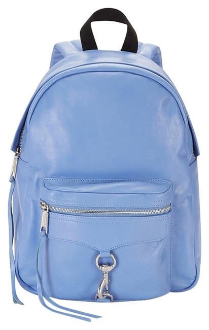 Item - Mab Blue Leather Backpack
