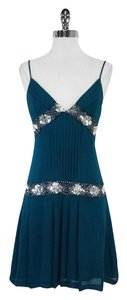 Reiss short dress Teal Sequined Beaded on Tradesy