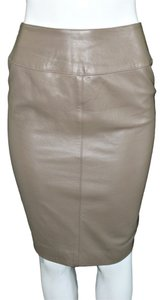 Carlisle Leather Skirt Brown