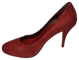 Banana Republic Mad Men Collection High Heels Slip On Red Pumps