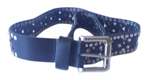BCBGMAXAZRIA 100% real leather diamond belt
