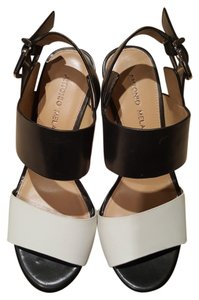 Antonio Melani Black and White Sandals