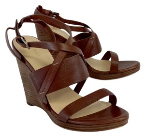 Cole Haan Brown Leather Sandal Wedges