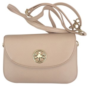 Tory Burch Dark Sahara Beige Nude Messenger Bag
