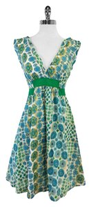 Marc Jacobs short dress Blue & Green Cotton on Tradesy