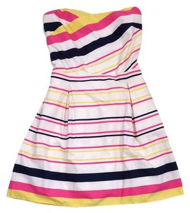 Lilly Pulitzer short dress Striped Cotton Strapless on Tradesy