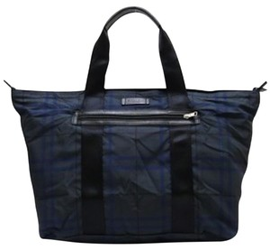 Coach Packable Tote Gray Plaid Travel Bag