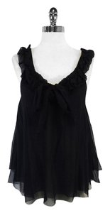 Robert Rodriguez Black Silk Sleeveless Top