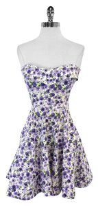Betsey Johnson short dress White Rose Print on Tradesy