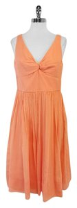 J.Crew Peach Silk Sleeveless Dress