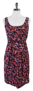 Shoshanna short dress Multi Color Print Silk on Tradesy